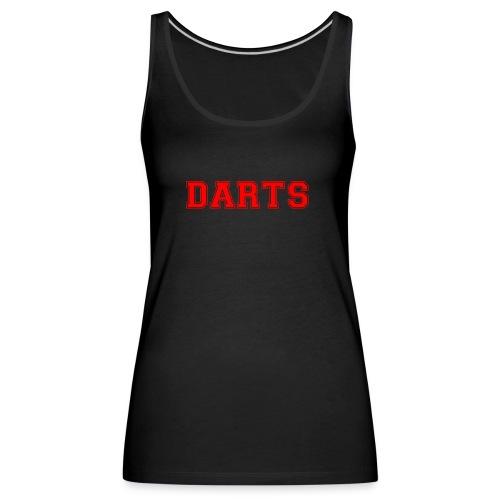 DARTS - Schriftzug in rot - Frauen Premium Tank Top