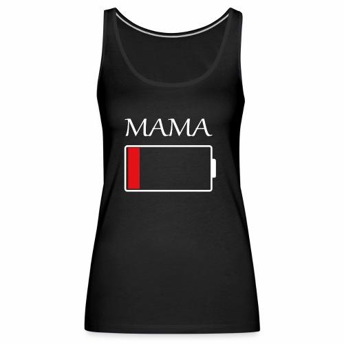 Mama Akku leer - Frauen Premium Tank Top