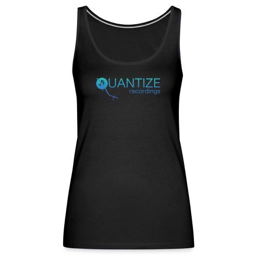 Quantize Gradient Teal/Turquoise Blue Logo - Women's Premium Tank Top