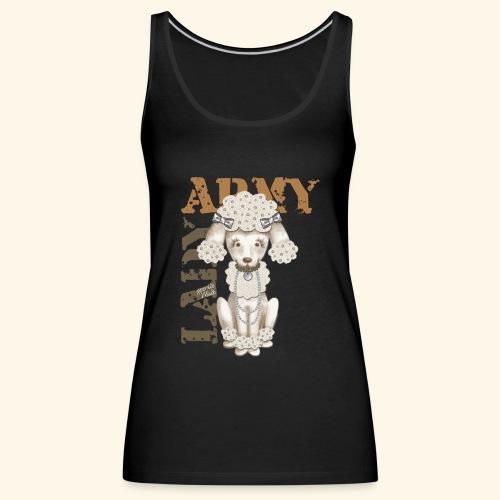 Army Dog - Camiseta de tirantes premium mujer