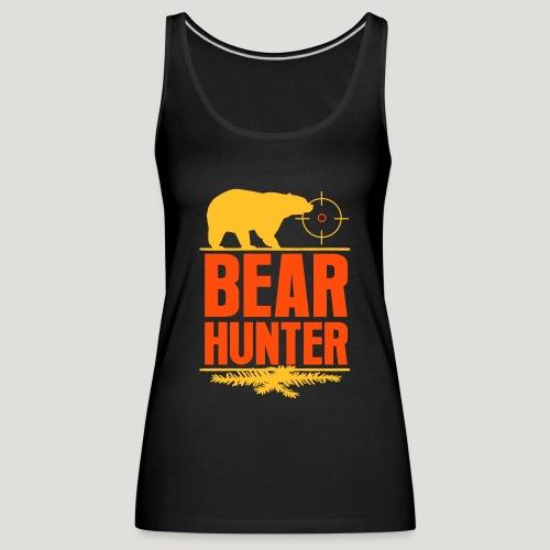 Jäger Shirt Bären Jäger - Bear Hunter Jagd Wild - Frauen Premium Tank Top