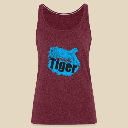 Blue Tiger - Débardeur Premium Femme