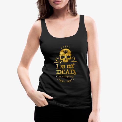 GoldSkull - Camiseta de tirantes premium mujer