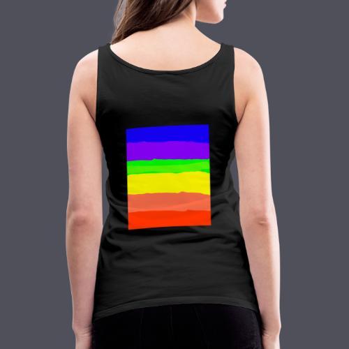 Luna The Kitten & Rainbow Design - Women's Premium Tank Top