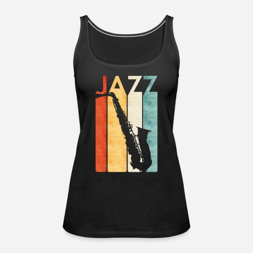 Jazz Saxophon Retro - Frauen Premium Tank Top