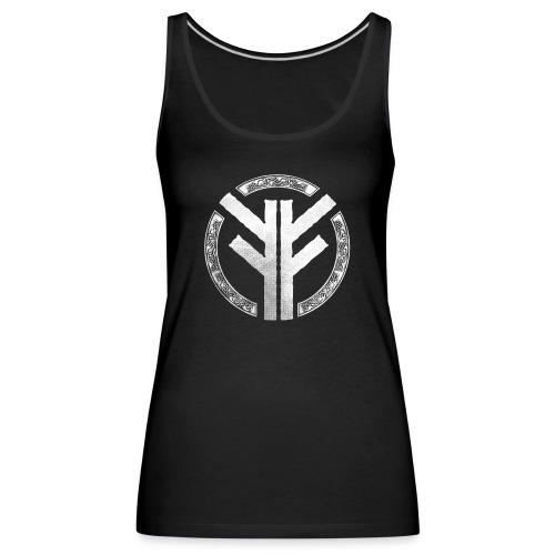 Forefather symbol white - Women's Premium Tank Top