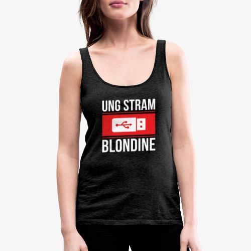 Ung Stram Blondine - Hvid - Dame Premium tanktop