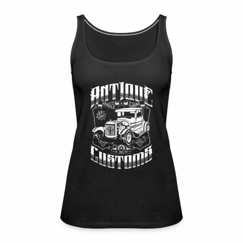 Hot Rod - Antique Customs (white) - Women's Premium Tank Top
