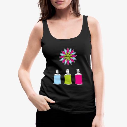 SOLRAC Spray of colors - Camiseta de tirantes premium mujer