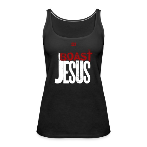 I BOAST JESUS - Red White - Women's Premium Tank Top
