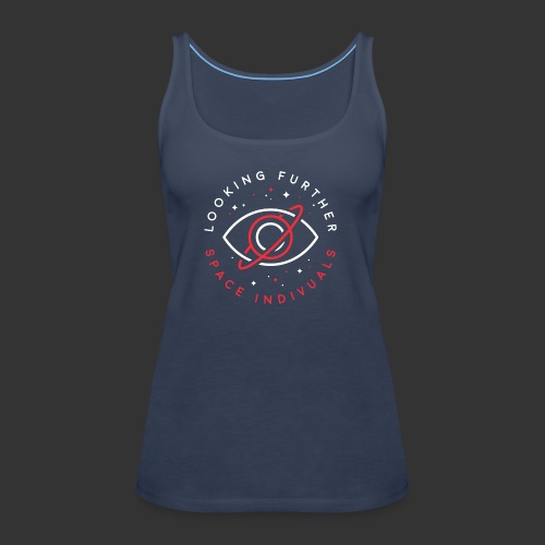 Space Individuals - Looking Farther Black - Women's Premium Tank Top