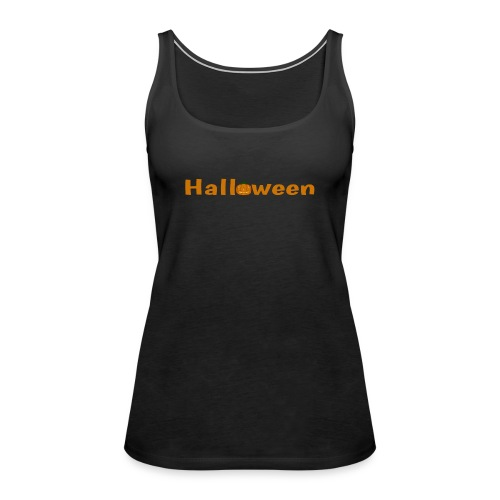 Halloween mit o als Kürbis - Frauen Premium Tank Top