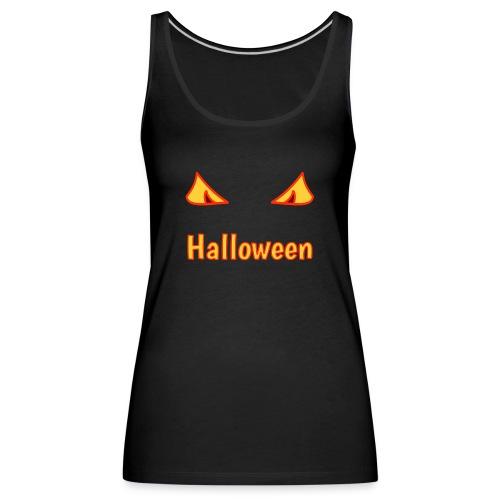 Halloween mit Gruselaugen - Frauen Premium Tank Top