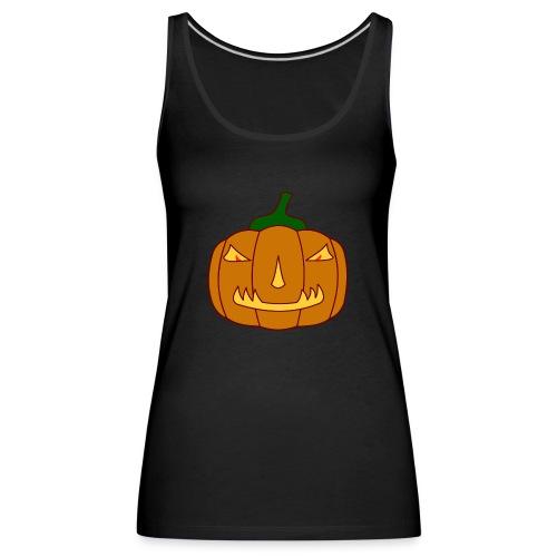 Halloween Kürbis mit Gruselgesicht - Frauen Premium Tank Top