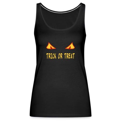 Halloween trick or treat mit Monsteraugen - Frauen Premium Tank Top