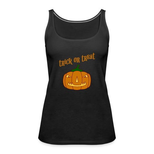 Halloween trick or treat und Kürbis - Frauen Premium Tank Top