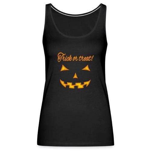 Halloween trick or treat und gruseliges Gesicht - Frauen Premium Tank Top