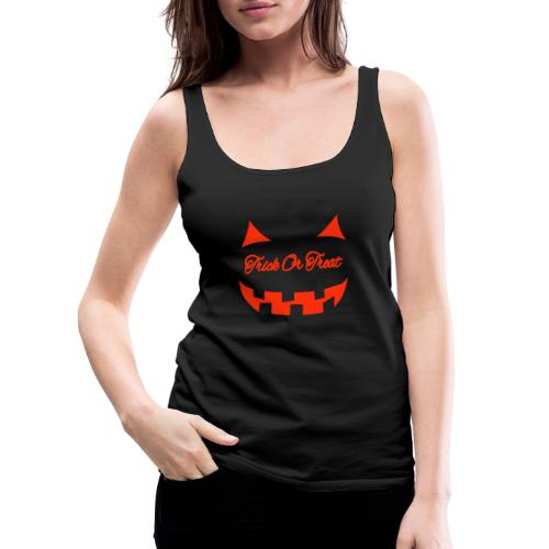 Halloween trick or treat und Gesicht - Frauen Premium Tank Top