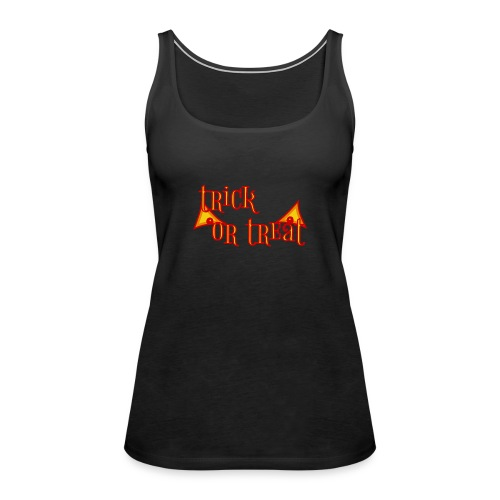 Halloween trick or treat mit gruseligen Augen - Frauen Premium Tank Top