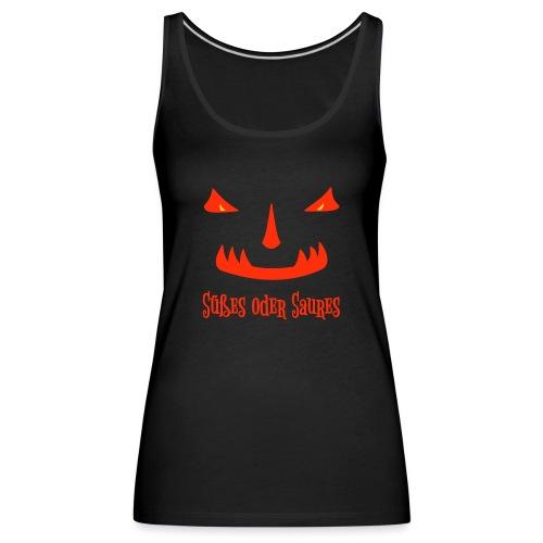 Halloween Süßes oder Saures mit Monstergesicht - Frauen Premium Tank Top