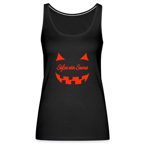 Halloween Süßes oder Saures mit Gruselgesicht - Frauen Premium Tank Top