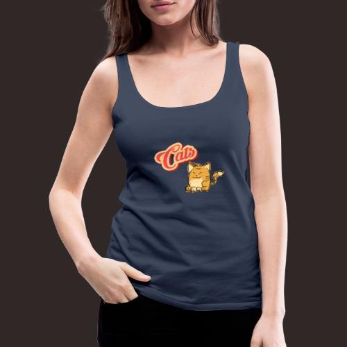 Katze | Katzen süß Schriftzug - Frauen Premium Tank Top