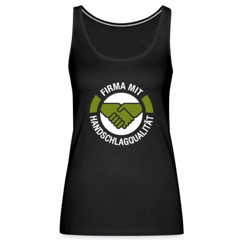 Handschlagqualität Logo weiss - Frauen Premium Tank Top