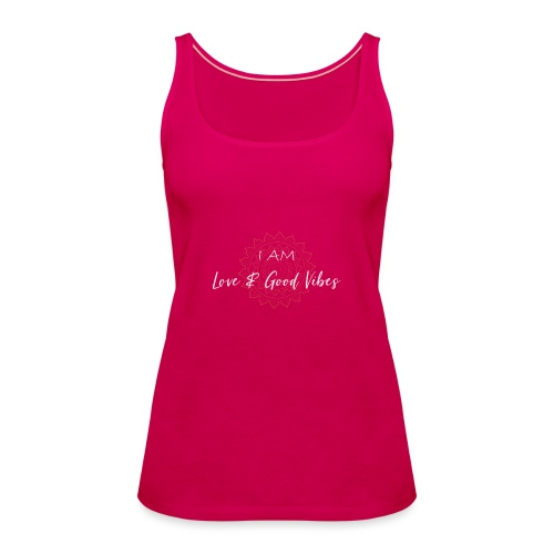 I am love and good vibes white gold - Frauen Premium Tank Top