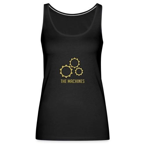 The Machines Logo Gold - Premium singlet for kvinner