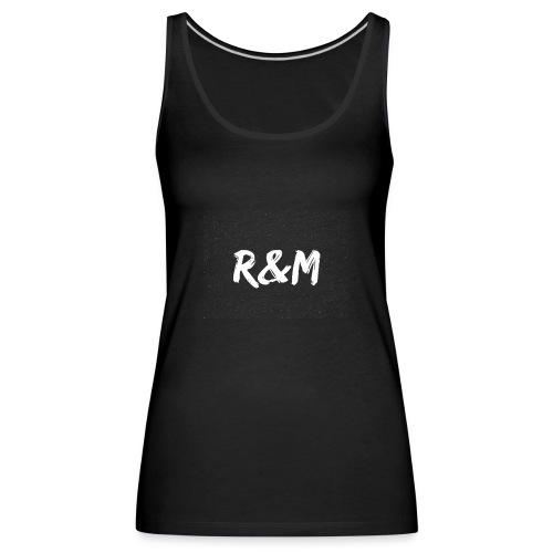 R&M Large Logo tshirt black - Women's Premium Tank Top