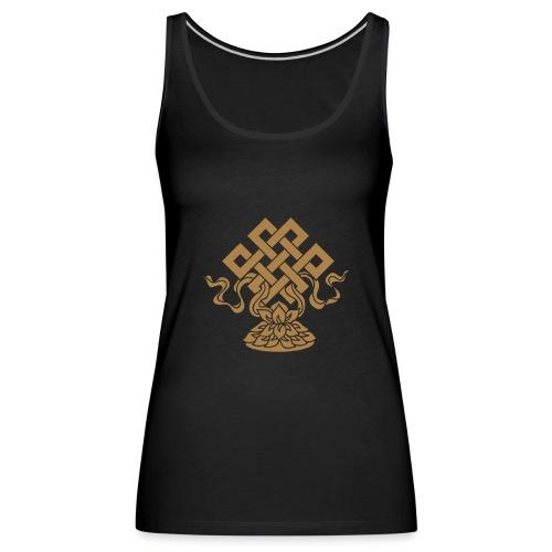 Endlosknoten, Buddhistisches Glückssymbol, Lotus - Frauen Premium Tank Top
