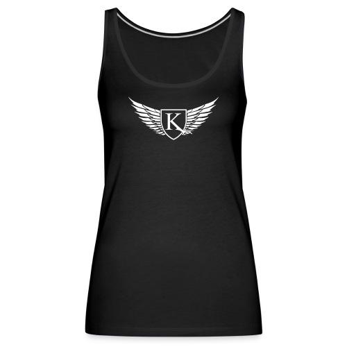 K-Wings white - Frauen Premium Tank Top