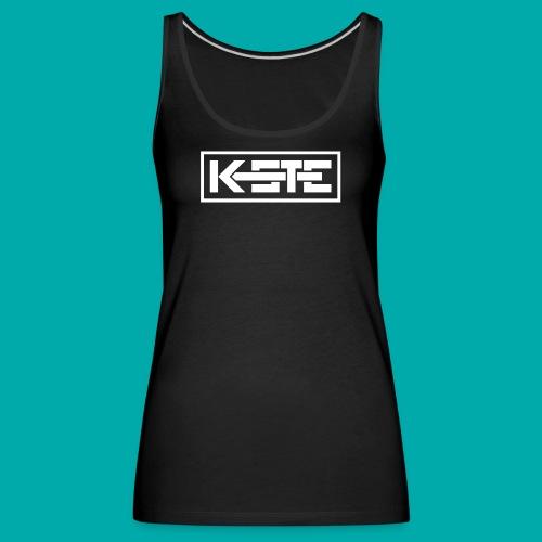 K-STE Logo weiß - Frauen Premium Tank Top
