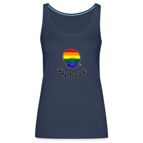 Homosexuell Baaa! Rainbow Pride Sheep (schwarze Ausgabe) - Frauen Premium Tank Top