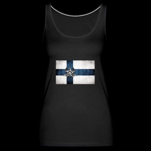 Suomen lippu - Naisten premium hihaton toppi