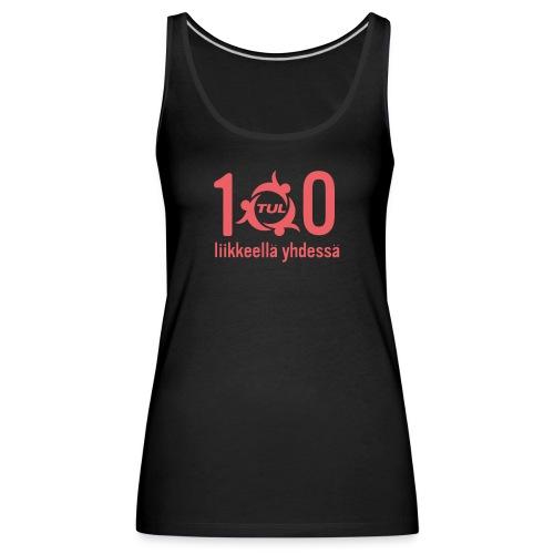 TUL100, punainen logopainatus - Naisten premium hihaton toppi