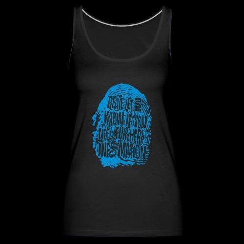 DNA, odcisków palców (niebieski) - Tank top damski Premium