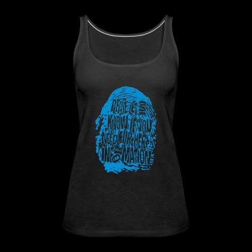 Fingerprint DNA (blue) - Frauen Premium Tank Top