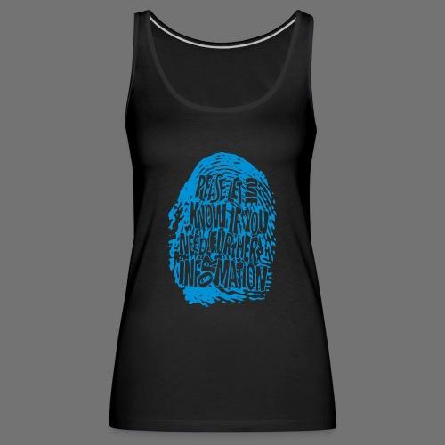 Fingerprint DNA (blue) - Frauen Premium Tank Top