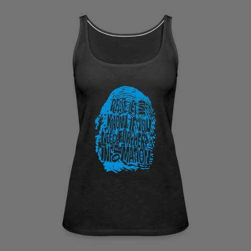 Fingerprint DNA (blue) - Women's Premium Tank Top