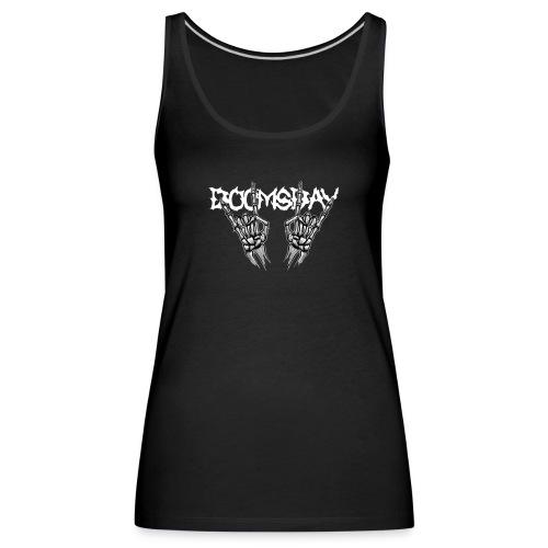 Doomsday logo white - Premiumtanktopp dam