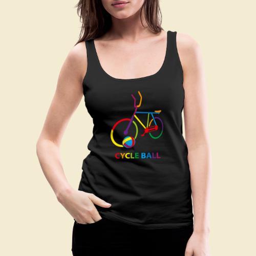 Radball   Cycle Ball Rainbow - Frauen Premium Tank Top