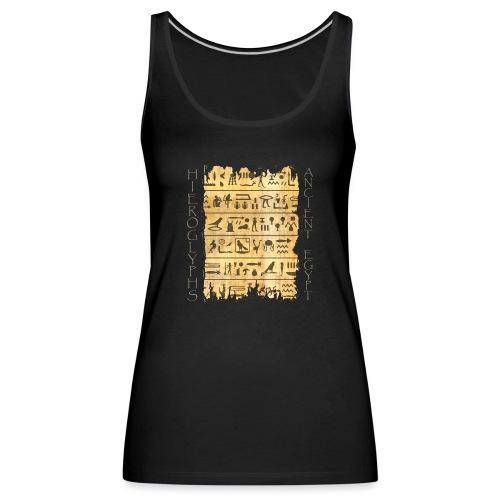 Ausgerissener Papyri mit Hieroglyphen - Frauen Premium Tank Top