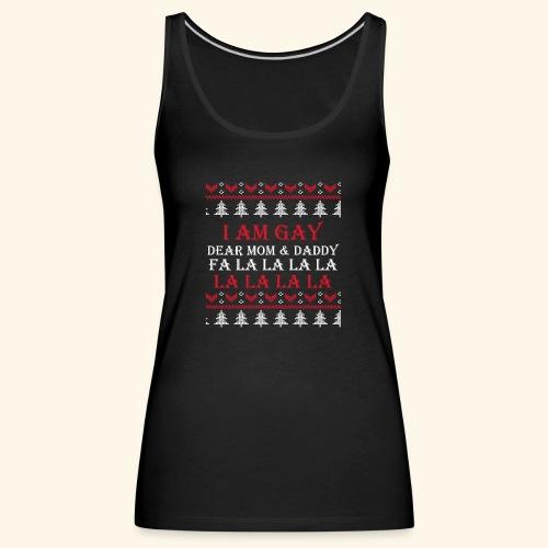 Gay Christmas sweater - Tank top damski Premium