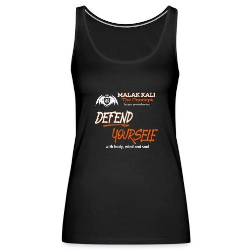 MKlogo defend tshirt2 - Frauen Premium Tank Top