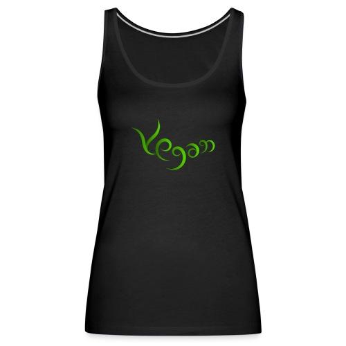 Vegaani käsinkirjoitettu design - Naisten premium hihaton toppi