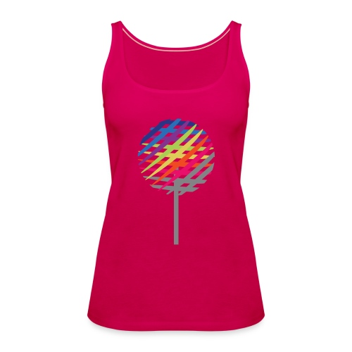 Rainbow Tree - Tank top damski Premium