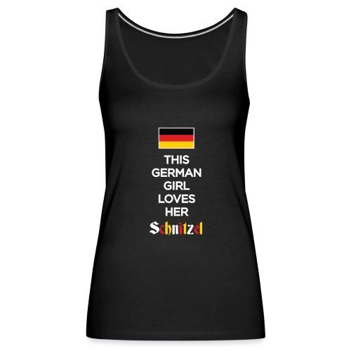 Girl loves her Schnitzel - Frauen Premium Tank Top