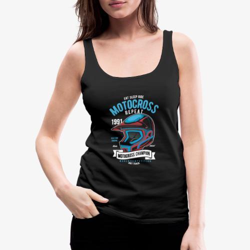 Casque de champion de motocross - Débardeur Premium Femme