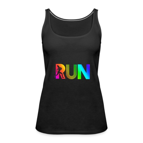 run rainbow running athletic - Débardeur Premium Femme